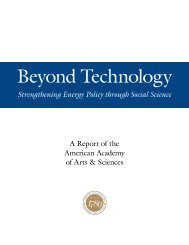 Beyond Technology - American Academy of Arts and Sciences