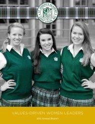 VALUES-DRIVEN WOMEN LEADERS - St. Joseph's Academy