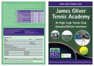 James Oliver Tennis Academy - High Legh Tennis Club