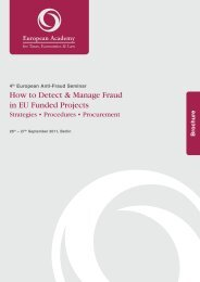 How to Detect & Manage Fraud in EU Funded Projects - European ...