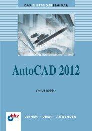 AutoCAD 2012 : Inhaltsverzeichnis - Mitp