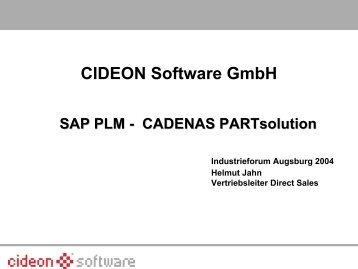 CIDEON Software GmbH - CADENAS Industry-Forum