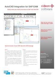 AutoCAD Integration for SAP EAM - CIDEON - Software