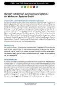 CAD- und GIS-Seminare 2012 - Widemann Systeme GmbH - Page 3
