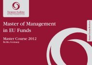 Master of Management in EU Funds - European Academy for Taxes ...