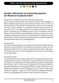 CAD- und GIS- Seminare 2013 - Widemann Systeme GmbH - Page 3