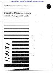 Disruptive! Maximum Security Inmate Management Guide - National ...