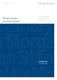 Morgan Stanley Investment Funds* - Skandia