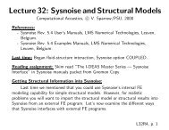 Sysnoise and Structural Models - Graduate Program in Acoustics
