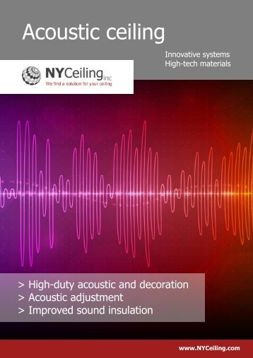 Acoustic ceiling - NYCeiling