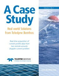 Real world Solutions from Teledyne Benthos