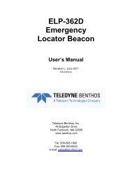 ELP-362D Emergency Locator Beacon User's ... - Teledyne Benthos