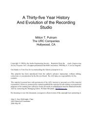 A Thirty-five Year History And Evolution of the Recording Studio