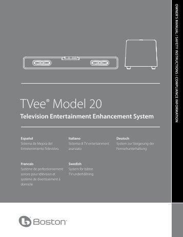 TVee® Model 20 - Home - Boston Acoustics