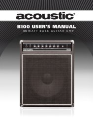 View user guide PDF - Acoustic