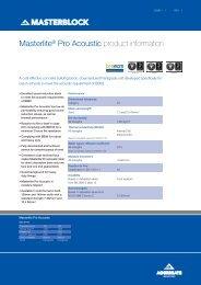 Masterlite Pro Acoustic - Aggregate Industries
