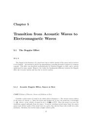 Transition from Acoustic Waves to Electromagnetic Waves