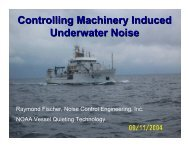 Controlling Machinery Induced Underwater Noise - NOAA
