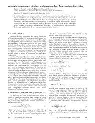 Acoustic monopoles, dipoles, and quadrupoles