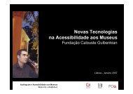 Novas Tecnologias na Acessibilidade aos Museus - Universidade ...