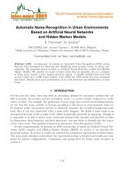 Automatic Noise Recognition in Urban Environments ... - CiteSeerX