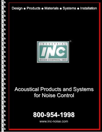Acoustical Products and Systems for Noise Control - Industrial Noise ...