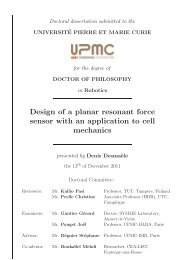 Design of a planar resonant force sensor with an ... - ISIR - UPMC