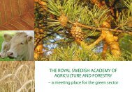 the royal swedish academy of agriculture and forestry