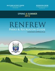 Parks & Recreaton Guide - the Town of Renfrew