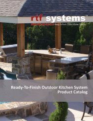Ready-To-Finish Outdoor Kitchen System Product Catalog - rtf systems