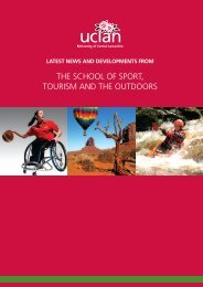the school of sport, tourism and the outdoors - University of Central ...