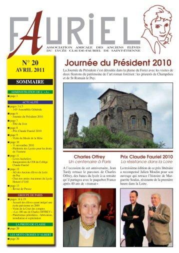 bulletin 2010 - Association des Anciens Élèves du Lycée Claude ...