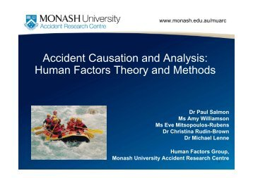 Accident Causation and Analysis: Human Factors Theory ... - ORIC
