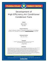 Development of High Efficiency Air Conditioner Condenser Fans