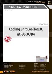 CONTEG DATA SHEET Cooling unit CoolTeg XC AC-SO-XC/B4