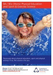 BA / BSc (Hons) Physical Education and Sport & Exercise Science