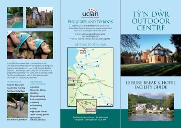 TY'N DWR OUTDOOR CENTRE - University of Central Lancashire