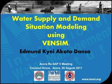 Water Supply and Demand Situation Modeling using ... - URAdapt
