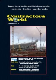 Reports from around the world by industry ... - Contractors World