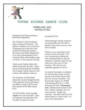 VOTRE SOIREE DANCE CLUB - Where To Go Ballroom Dancing