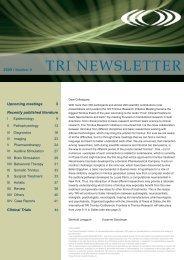 TRI NEWSLETTER - Tinnitus Research Initiative