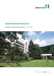 Qualitätsbericht Reha 2011 - MediClin