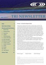 TRI Newsletter 0809 - Tinnitus Research Initiative
