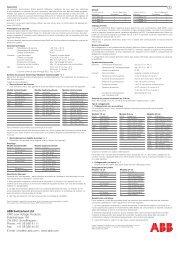 ABB Switzerland Ltd CMC Low Voltage Products Fulachstrasse 150 ...