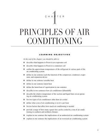 PRINCIPLES OF AIR CONDITIONING - REcampus