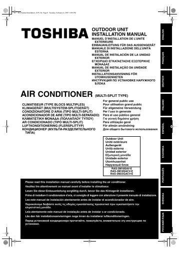 Air Conditioner Multi Split Type Outdoor Unit Installation Manual