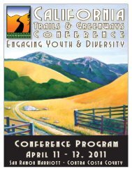 the conference program - California State Parks - State of California