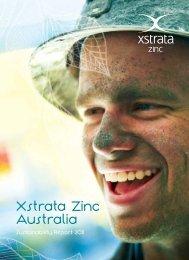Xstrata Zinc Australia Sustainability Report 2011