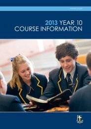 2013 Year 10 Course Information Booklet.pdf - Immanuel College