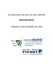 Ce document est issu du site internet www.ducrest.fr Cliquez ici pour ...